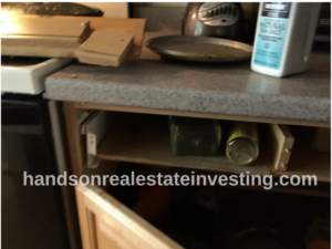 Kitchen Drawer Wood Panel/Handle Ripped Off beginner real estate investor how to invest in real estate